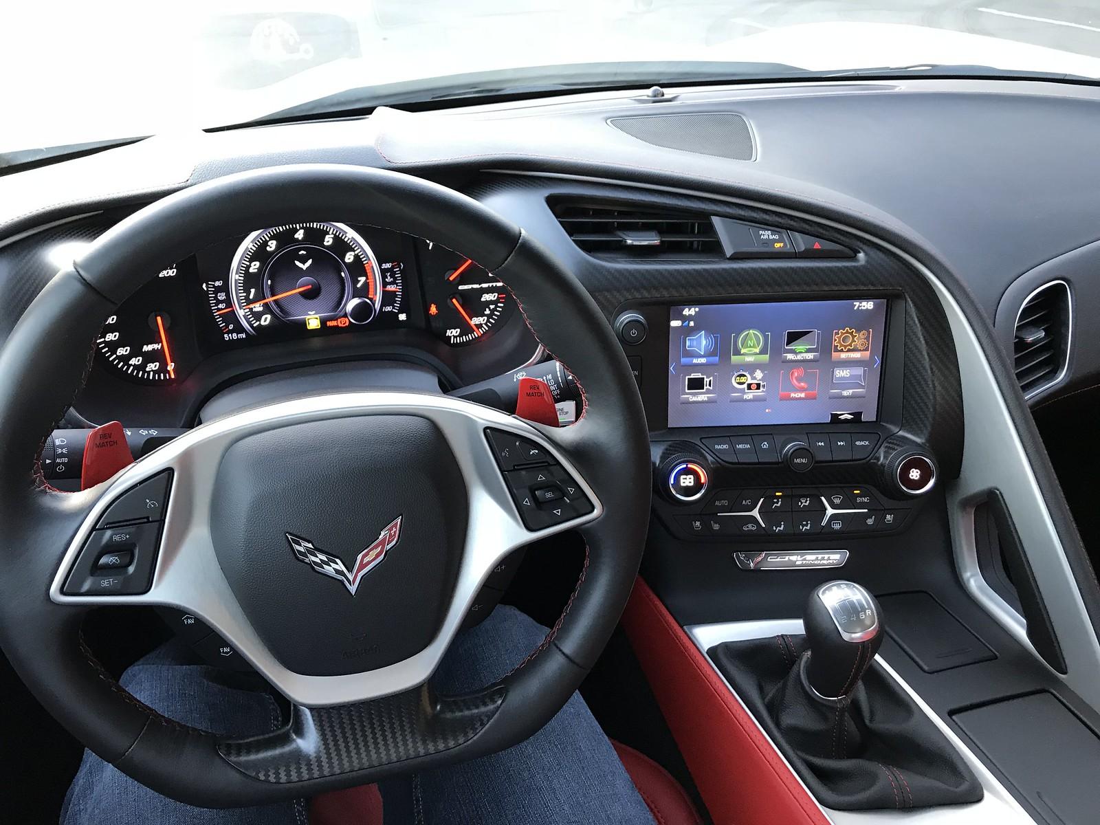2014-2019 Corvette C7 Corvette Carbon Fiber Steering Wheel Trim