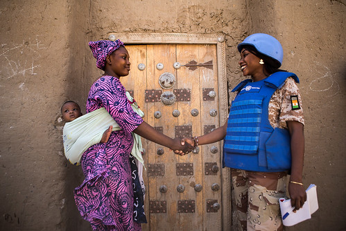 UN Police Patrol in Timbuktu