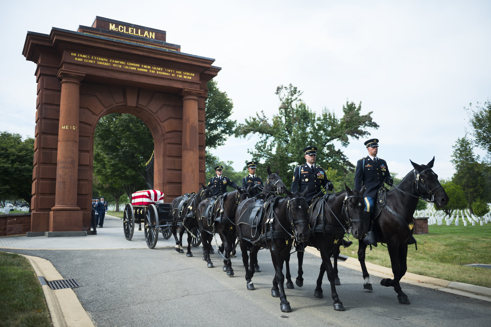 Full Honors Funeral for U.S. Air Force Col. Robert Anderson at Arlington National Cemetery