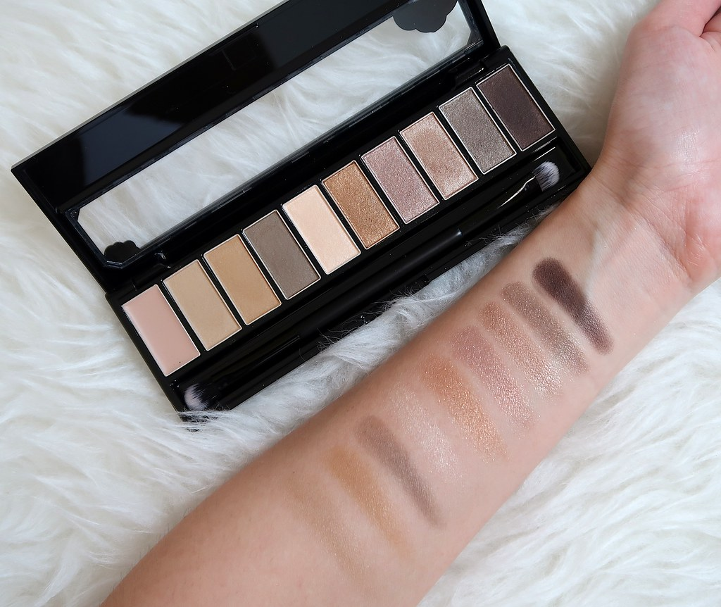 Heroine Make 01 Beige Brown Multicolor Palette Swatches