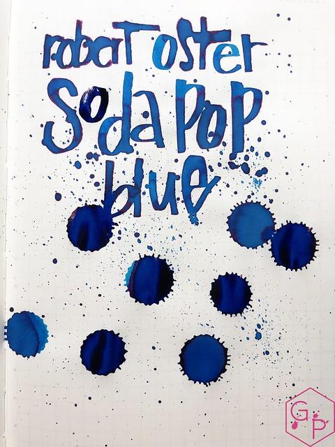 Ink Shot Review @RobertOsterInk Soda Pop Blue @PhidonPens 15