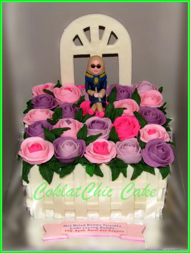 Cake bunga Bunda 15cm