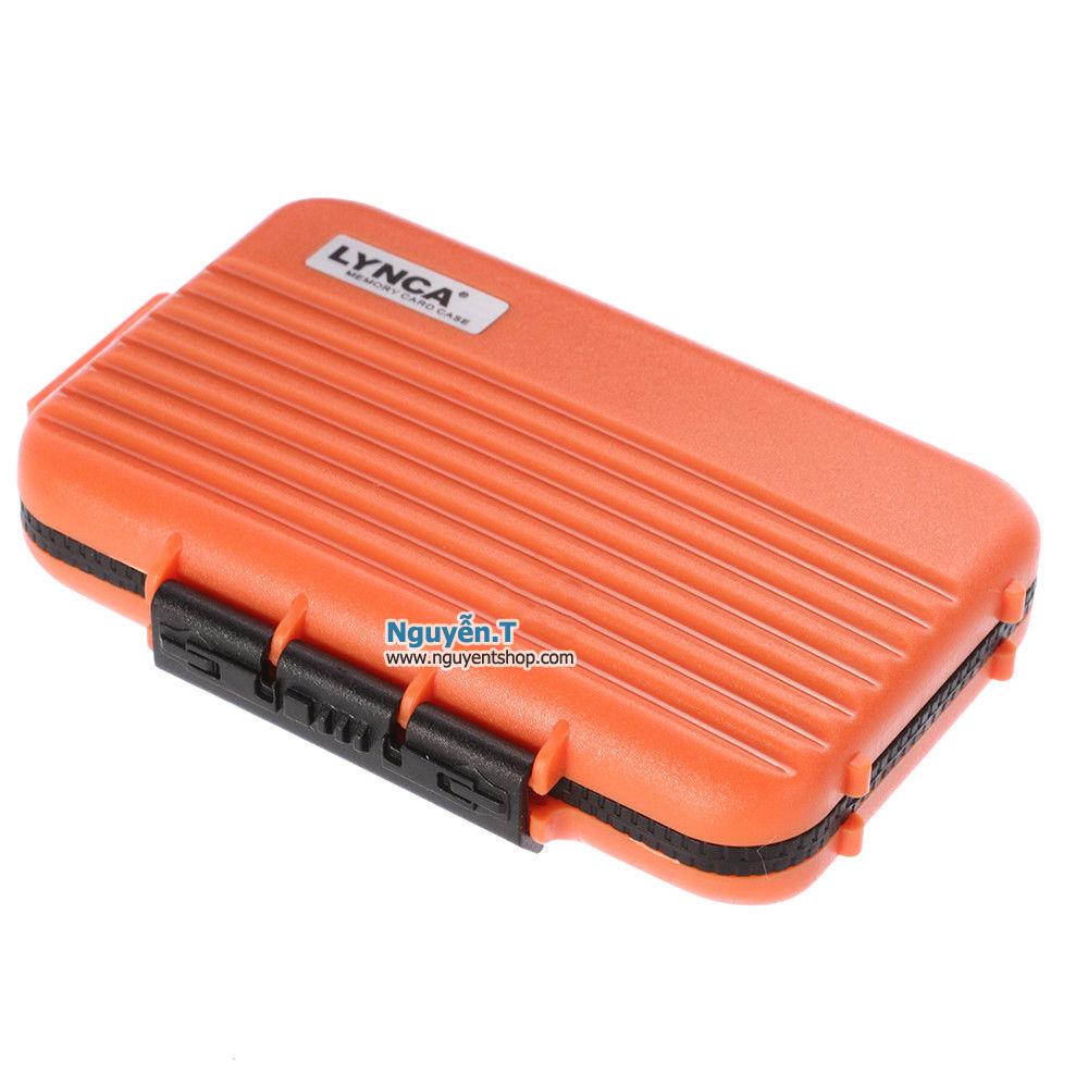 Hộp thẻ nhớ LYNCA KH6 chống nước 4CF +  8SD + 12micro SD_Sony orange