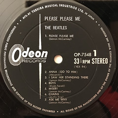 THE BEATLES:PLEASE PLEASE ME(LABEL SIDE-A)