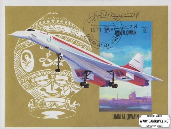 Známky Umm al Qaiwain 1972 Letectvo, razený hárček