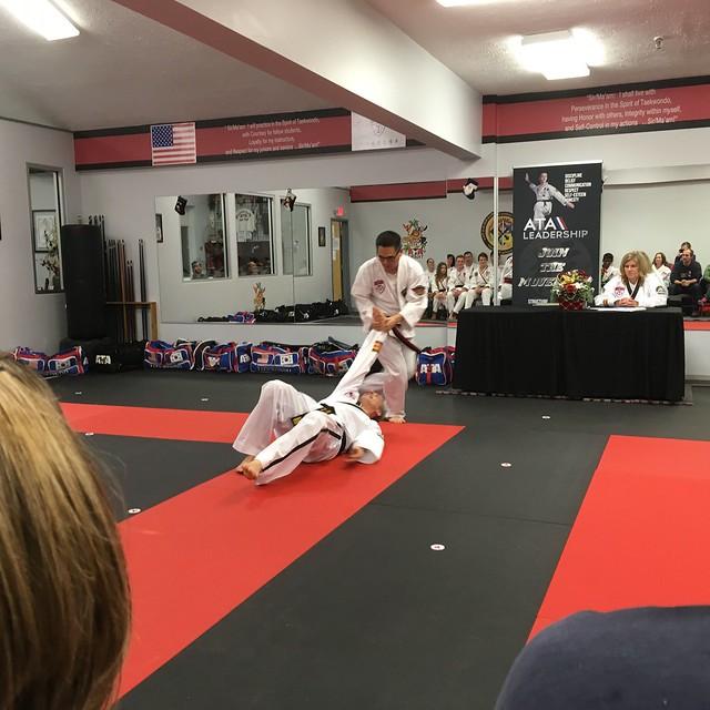Self defense testing at the ATA Taekwondo