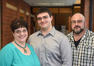 Fri, 12/15/2017 - 15:23 - Triton Adamski with his parents, Denise and Dale Adamski