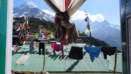 Thamsherku and Namche Bazaar