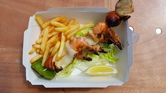 Seafood and chips