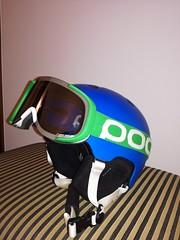 Helma s brýlemi značky POC - titulní fotka