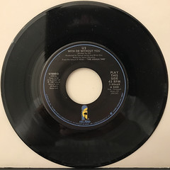U2:WITH OR WITHOUT YOU(RECORD SIDE-A)