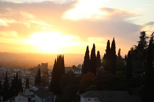 Atardecer albaicin catedral Granada