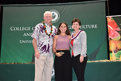 """CTAHR graduate student marshal Megan Manley with Dean Nicholas Comerford and Associate Dean Ania Wieczorek at the college's convocation ceremony on December 8.  View more photos at CTAHR's Flickr site: <a href=""""https://www.flickr.com/photos/ctahr/sets/72157690935002195/with/27241438299/"""">www.flickr.com/photos/ctahr/sets/72157690935002195/with/2...</a>"""