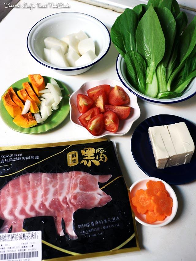蔬菜蕃茄豬肉鍋_大成桐德黑豚 dachan-food-pork (9)