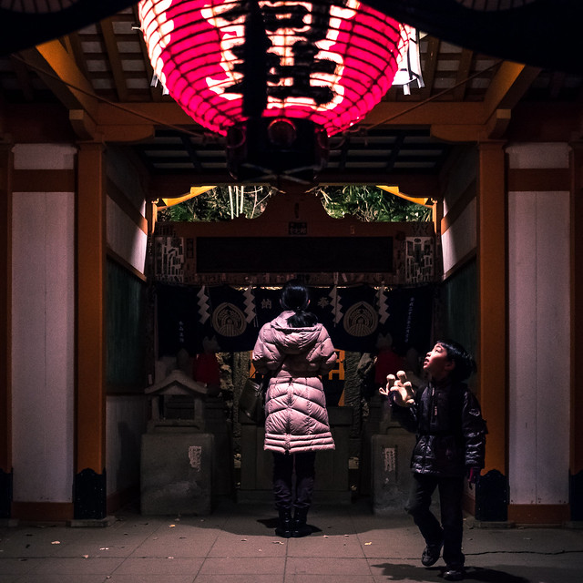 At the temple - Tokyo, Japan - Color street photography