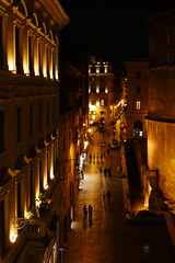 Night scene by the Pantheon, Rome