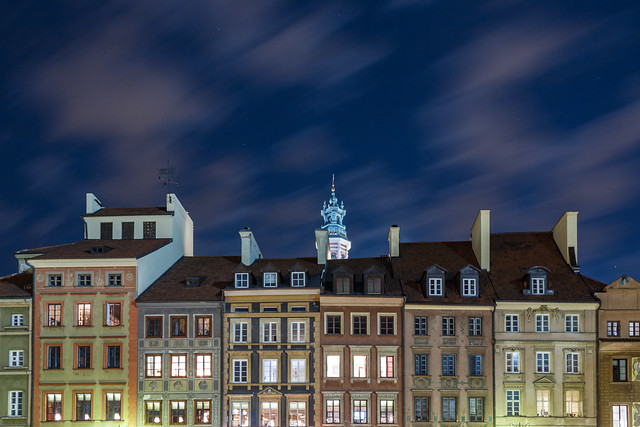 ABM (Another Blue Monday) / Old town market square in Warsaw, Poland