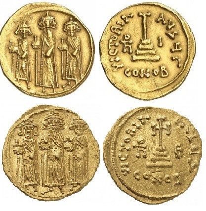 Umayyad arab-byzantine Solidus; most likely minted under the rign of caliph Muawiyah I