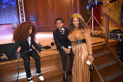 DSC_7084 Black British Entertainment Awards BBE Dec 2017 at Porchester Hall London by Jean Gasho Co Founder of BBE with Nicole from Philadelphia Joshua Beckford and Farouk James Young Achievers
