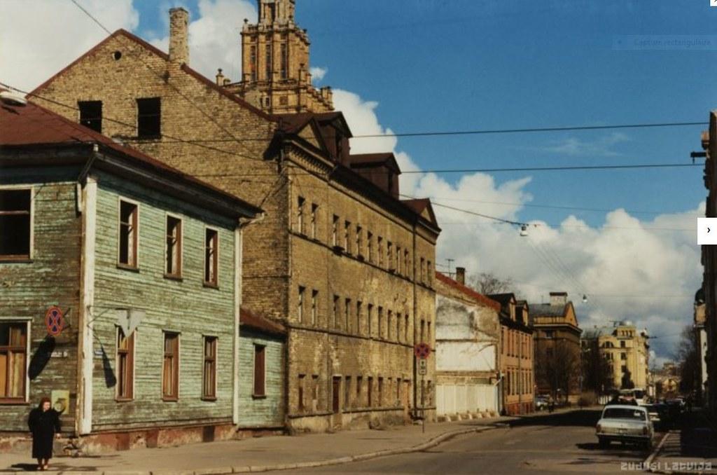 Quartier de Maskavas Forstate à Riga dans les années 1960.