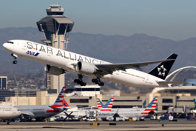 All Nippon Airways | Boeing 777-300ER | JA731A | Star Alliance livery | Los Angeles