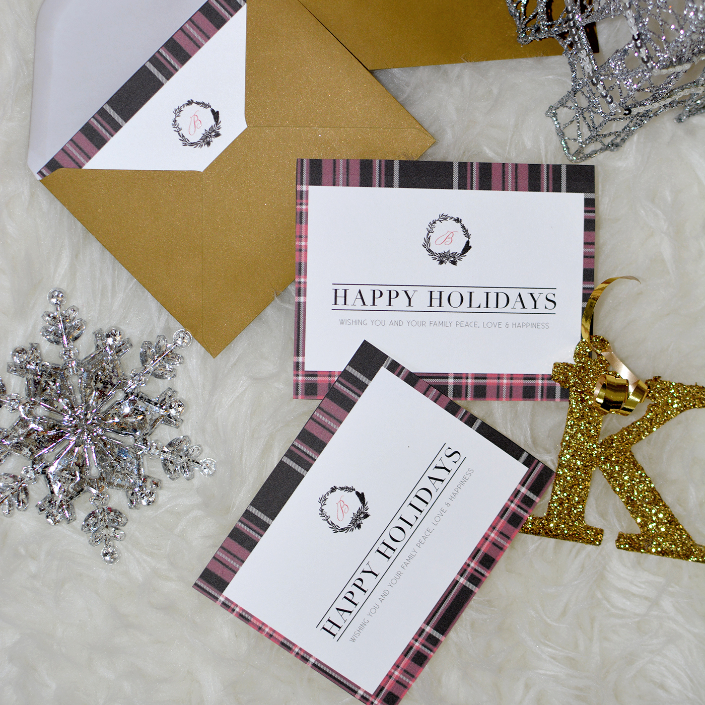 My DIY Plaid Holiday Cards