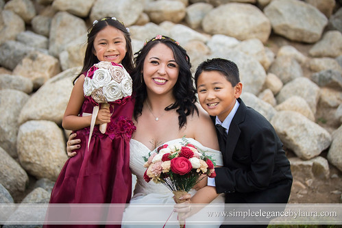 Bride With the Ring Bearer and Flower Girl