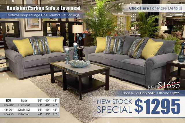 Anniston Carbon Living Set 4342