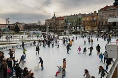 Ice skate park in Zagreb