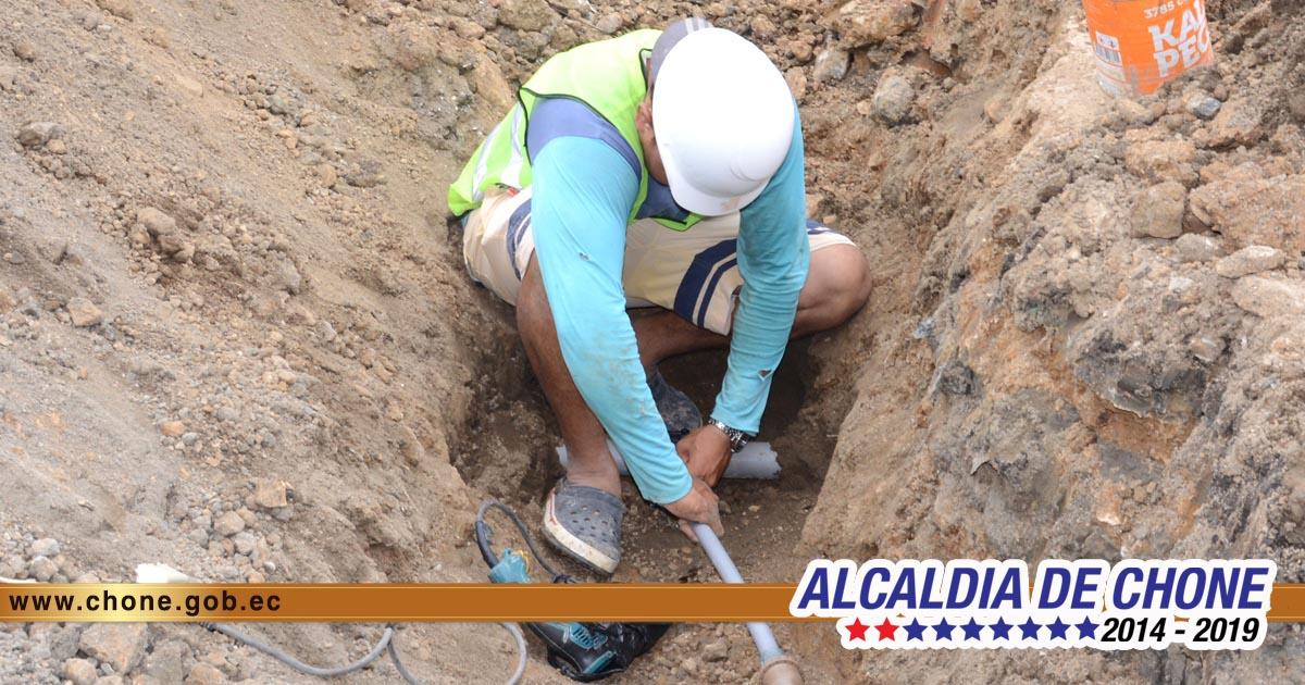 Continúan los avances de los trabajos en la calle Elías Cedeño Jerves