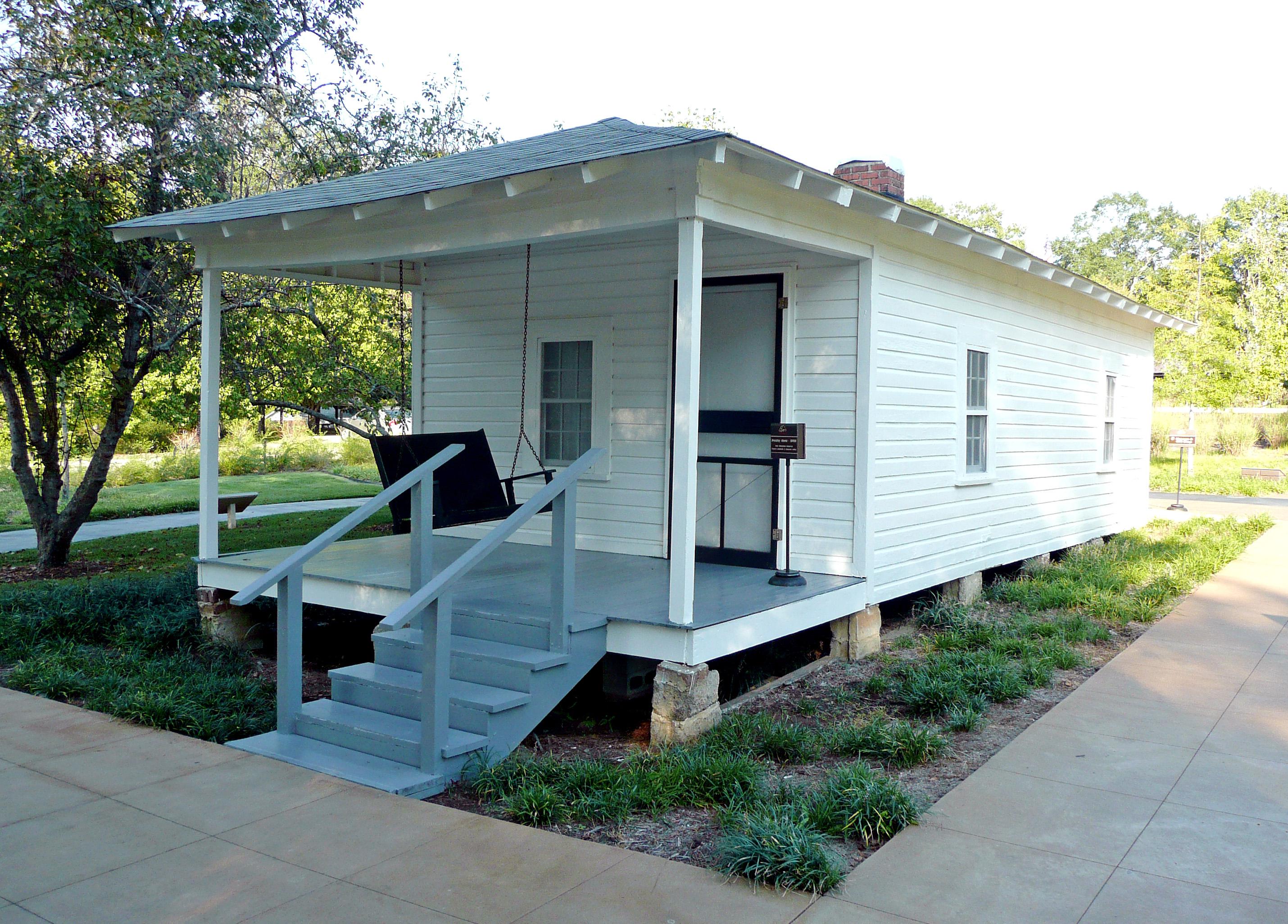 Elvis Presley's birthplace in Tupelo, Mississippi. Photo taken on November 7, 2007.