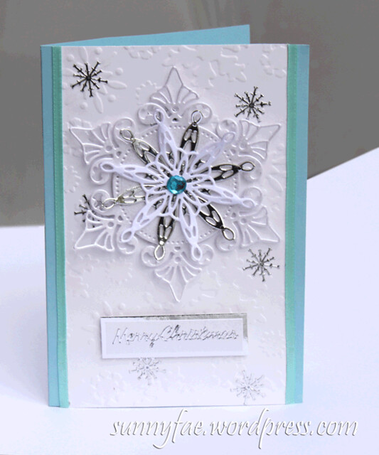 christmas card snowflake small