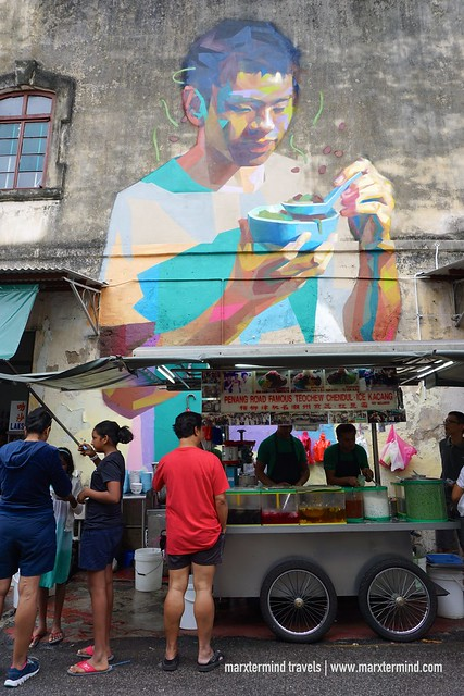 Boy Eating Cendol Penang Street Art