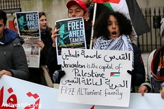 Protest for Ahed Tamimi, London, UK, 23.12.2017