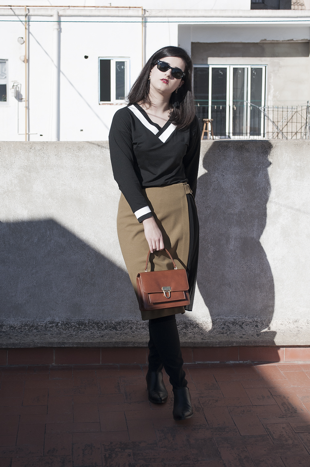 somethingfashion spain firenze italy valencia bloggers outfit shein collaboration blackwhite college sweater_0233