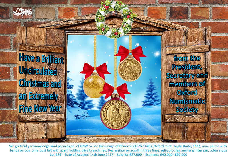 Oxford Numismatic Society Christmascard 2017