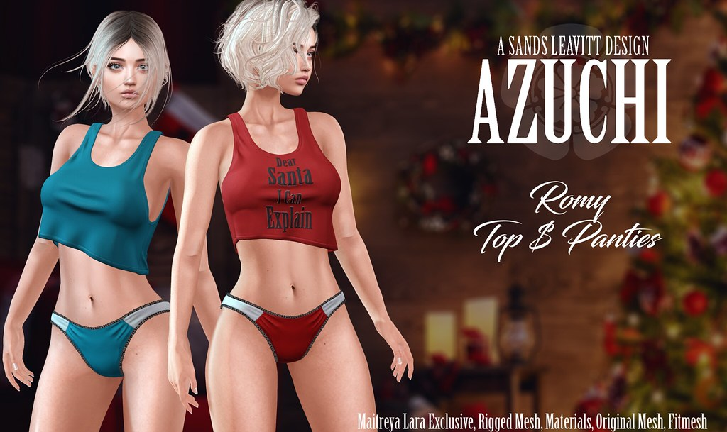Azuchi Romy Top and Panties - TeleportHub.com Live!