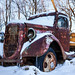Snow Covered Antique Ford Truck by mjhedge