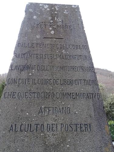 Cippo Carlo Pisacane nei Pressi di Sanza.
