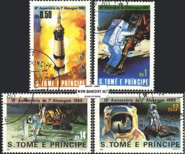 Známky Svätý Tomáš 1980 Vesmír, razítkovaná séria