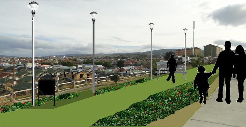 Plaza Mirador General del Canto - Barrio La Concepción – Punta Arenas