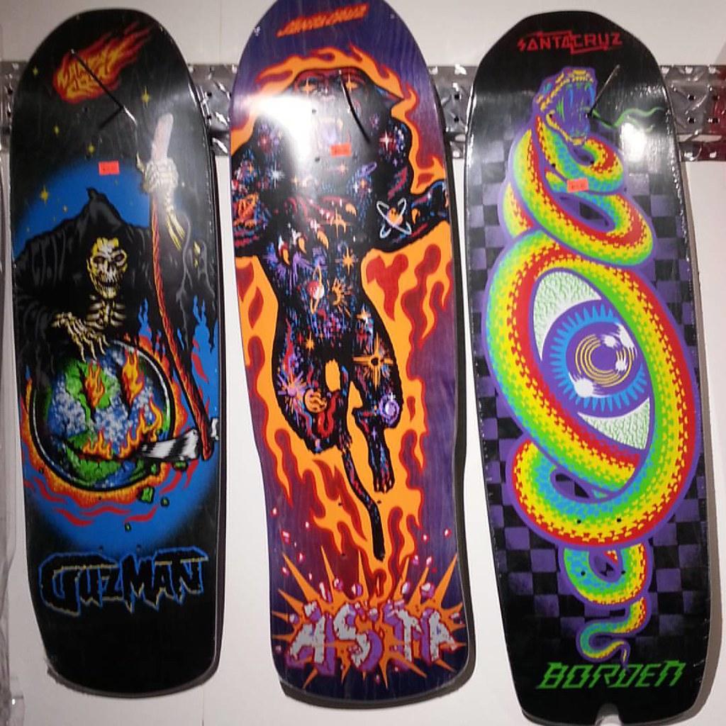Latest reissues from Santa Cruz now in stock. #santacruzskateboards #borden #asta #guzman