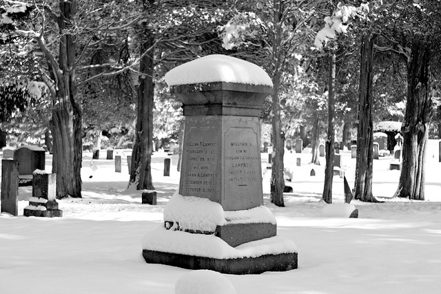 First Snow, High Street Cemetery, Hampton, New Hampshire