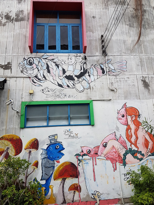 songkhla old town street art anime