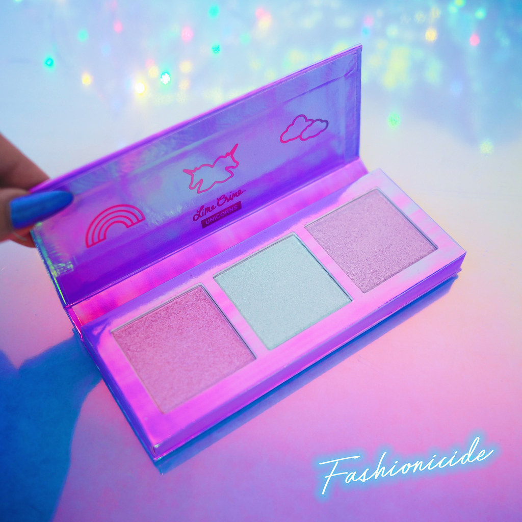 Lime Crime Hi-Lite Highlighter palette green electric pink mauve gold Daydreamin Frolic and Happyland