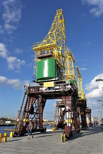 old ship crane