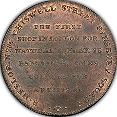 Heslop's Middlesex Halfpenny Token reverse