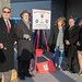 From left- Rep. John Fusco, State Sen. Joe Markley, Janet Mellon, of Southington Comm=unity Services, Rep. Rob Sampson and Paula Romero during the bell for the Salvation Army's Red Kettle campaign outside the Southington Walmart.  During the hour of ringing, they raised $27,490.