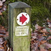 Direction sign to Stockghyll Force, Ambleside, Lake District National Park, Cumbria, UK