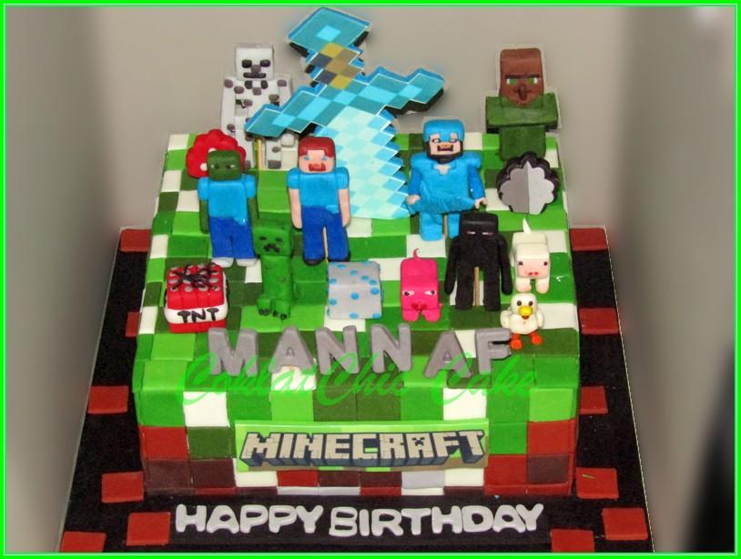 Cake Minecraft MANNAF 22cm